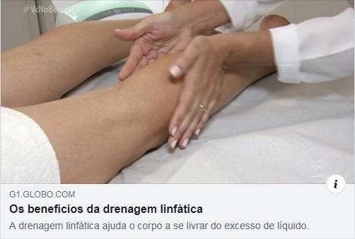 Beneficios da Drenagem Linfatica