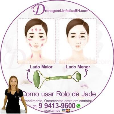 Movimentos do Rolo de Jade no Rosto