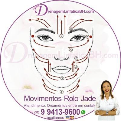 Como Usar o Rolo de Jade. Faça movimentos em direção aos gânglios linfáticos - localizados no pescoço, ligeiramente atrás das orelhas - para ajudar a estimular o movimento linfático
