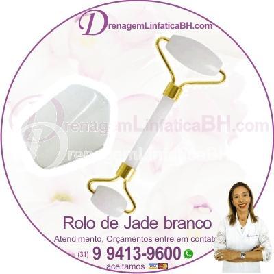 Rolo Jade de Quartzo Branco