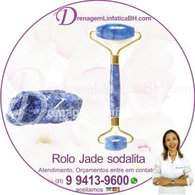 Rolo Jade de pedra Sodalita