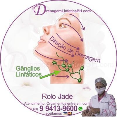 Drenagem Linfática Facial com Rolo de Jade