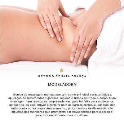 Massagem Modeladora Metodo Renata Franca em Belo Horizonte