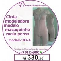 Cinta Modeladora Pós Operatório Modelo Macaquinho com Meia Perna