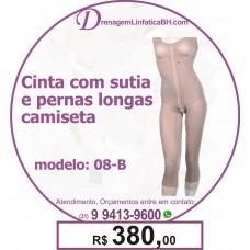 Cinta Pós Cirúrgica com Sutiã e Pernas Longas Camiseta